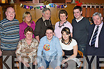 30TH CELEBRATIONS: Michael Hobbart, Listellick, Tralee, seated centre, having a great time with friends and family at his 30th birthday party held in the Ballymac Bar on Saturday night.   Copyright Kerry's Eye 2008