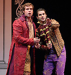 Andrew Love as Posthumus Leonatus and Bernardo Cubria as Iachimo during the final dress rehearsal of Cymbeline at Miller Theatre in Hermann Park Thursday July 31,2008. (Dave Rossman/For the Chronicle)