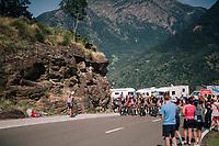 the grupetto up the final climb of the day (in Spain!): the Col du Portillon (Cat1/1292m)<br /> <br /> Stage 16: Carcassonne &gt; Bagn&egrave;res-de-Luchon (218km)<br /> <br /> 105th Tour de France 2018<br /> &copy;kramon