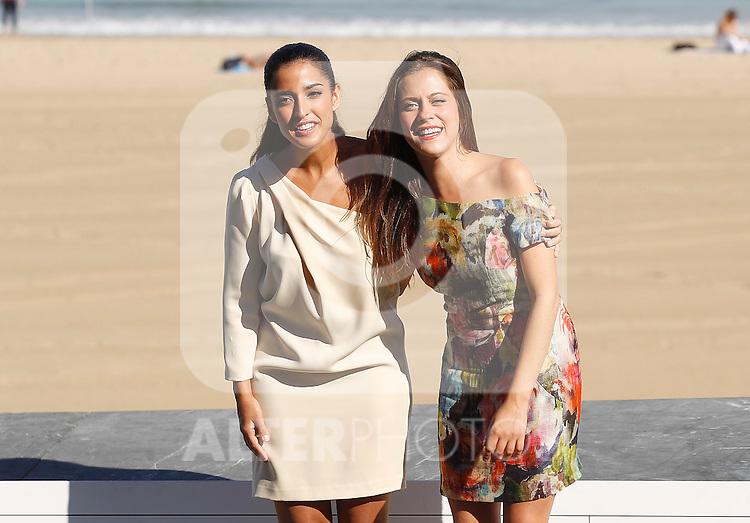 The actresses Inma Cuesta (l) and Maria Leon (r) during the 59th San Sebastian Donostia International Film Festival - Zinemaldia.September 21,2011.(ALTERPHOTOS/ALFAQUI/Acero)