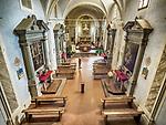 Interior, Church of San Silvestro, Castle of Marciano, 11th century, Castello di Larciano, Tuscano, Italy
