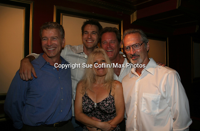 "Christopher Cass, Adam Mayfield, Brian Kerwin and Roscoe Born attend the show by One Life To Live's Ilene Kristen ""Roxy"" on her birthday July 30, 2009 at The Triad, New York City, New York before actors, friends, fans and family. (Photo by Sue Coflin/Max Photos)"