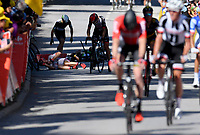 VITTEL, FRANCE - JULY 4 :  Crash during stage 4 of the 104th edition of the 2017 Tour de France cycling race, a stage of 207.5 kms between Mondorf-Les-Bains and Vittel on July 04, 2017 in Vittel, France, 04/07/2017 <br /> Ciclismo Tour De France 2017 <br /> Foto Photonews / Panoramic / Insidefoto <br /> ITALY ONLY