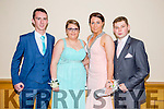 Listowel Community College, St Michael's College, Listowel and Presentation, Listowel, enjoying their Debs at the Brandon Hotel on Thursday night. Pictured l-r  Shane Molloy, Nicole Moriarty, Nicola Flavin and Paul Kennedy.