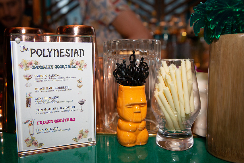 New York, NY - May 23, 2018:  The opening of The Polynesian, a new tiki bar by Major Food Group in The Pod Times Square Hotel.<br /> <br /> CREDIT: Clay Williams.<br /> <br /> &copy; Clay Williams / http://claywilliamsphoto.com