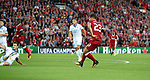 Emre Can of Liverpool scores the opening goal during the Champions League playoff round at the Anfield Stadium, Liverpool. Picture date 23rd August 2017. Picture credit should read: Lynne Cameron/Sportimage