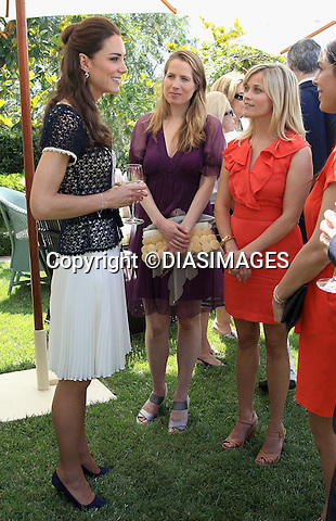 "PRINCE WILLIAM & KATE - CALIFORNIA, USA.Catherine, Duchess of Cambridge meets actress Reese Witherspoon as she attends a reception to mark the Launch of Tusk Trust's US Patron's Circle, Beverly Hills_10/07/2011.Mandatory Credit Photo: ©DIASIMAGES. .**ALL FEES PAYABLE TO: ""NEWSPIX INTERNATIONAL""**..IMMEDIATE CONFIRMATION OF USAGE REQUIRED:.DiasImages, 31a Chinnery Hill, Bishop's Stortford, ENGLAND CM23 3PS.Tel:+441279 324672  ; Fax: +441279656877.Mobile:  07775681153.e-mail: info@newspixinternational.co.uk"