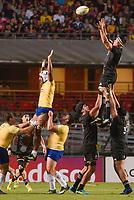 SÃO PAULO, SP, 10.11.2018 - BRASIL RUGBY-ALL BLACKS MAORI - Pari Pari Parkinson jogador do All Blacks Maori durante partida contra o Brasil Rugby em jogo amistoso no estádio do Morumbi em São Paulo, neste sábado, 10. (Foto: Anderson Lira/Brazil Photo Press/Folhapress)