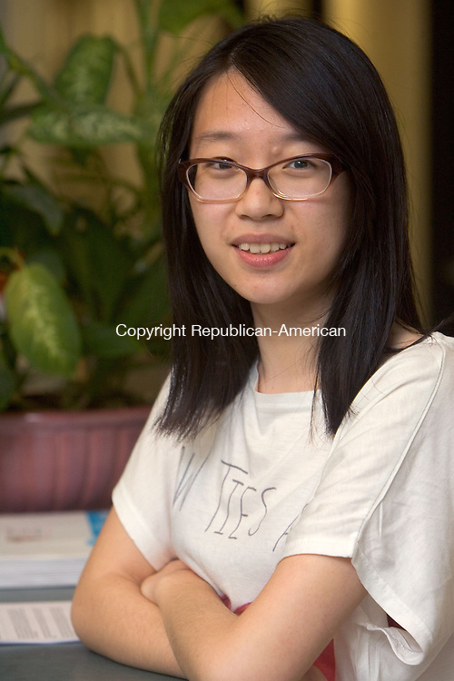 SOUTHBURY CT. 28 May 2015-052815SV13-Lucy Jiang of Pomperaug High School is the class valedictorian.<br /> Steven Valenti Republican-American