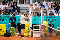 British Kyle Edmund talking with referee during Mutua Madrid Open 2018 at Caja Magica in Madrid, Spain. May 11, 2018. (ALTERPHOTOS/Borja B.Hojas) /NORTEPHOTOMEXICO