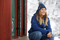 Australian Flag Bearer for the Opening Ceremony, Joany Badenhorst / Snowboarding<br /> PyeongChang 2018 Paralympic Games<br /> Australian Paralympic Committee<br /> PyeongChang South Korea<br /> Thursday March 8th 2018<br /> &copy; Sport the library / Jeff Crow