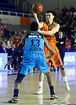Montakit Fuenlabrada's Francisco Cruz (r) and Alba Berlin's Malcolm Miller during Eurocup, Regular Season, Round 6 match. November 16, 2016. (ALTERPHOTOS/Acero)
