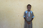 A girl student at the John Paul II School in Wau, South Sudan.