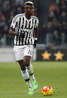 Calcio, semifinali di andata di Coppa Italia: Juventus vs Inter. Torino, Juventus Stadium, 27 gennaio 2016.<br /> Juventus' Paul Pogba in action during the Italian Cup semifinal first leg football match between Juventus and FC Inter at Juventus stadium, 27 January 2016.<br /> UPDATE IMAGES PRESS/Isabella Bonotto