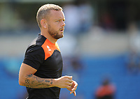 Blackpool's Jay Spearing during the pre-match warm-up <br /> <br /> Photographer Kevin Barnes/CameraSport<br /> <br /> The EFL Sky Bet League One - Wycombe Wanderers v Blackpool - Saturday 4th August 2018 - Adams Park - Wycombe<br /> <br /> World Copyright &copy; 2018 CameraSport. All rights reserved. 43 Linden Ave. Countesthorpe. Leicester. England. LE8 5PG - Tel: +44 (0) 116 277 4147 - admin@camerasport.com - www.camerasport.com