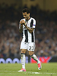 Juventus' Dani Alves in action during the Champions League Final match at the Principality Stadium, Cardiff. Picture date: June 3rd, 2017. Pic credit should read: David Klein/Sportimage