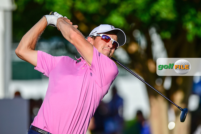 Scott Langley (USA) watches his tee shot on 10 during the round 2 of the Dean &amp; Deluca Invitational,  Colonial Country Club, Ft. Worth, Texas, USA. 5/27/2016.<br /> Picture: Golffile | Ken Murray<br /> <br /> <br /> All photo usage must carry mandatory copyright credit (&copy; Golffile | Ken Murray)