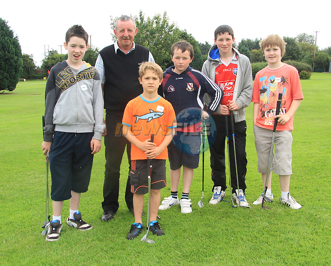 James Healy, Andrew Healy, Sean Rice, Niall O Connor, Tommy Dyas and Ewan Canniffe at the Mac Bride Pitch and Putt Summer Camp..Picture: Shane Maguire / www.newsfile.ie.