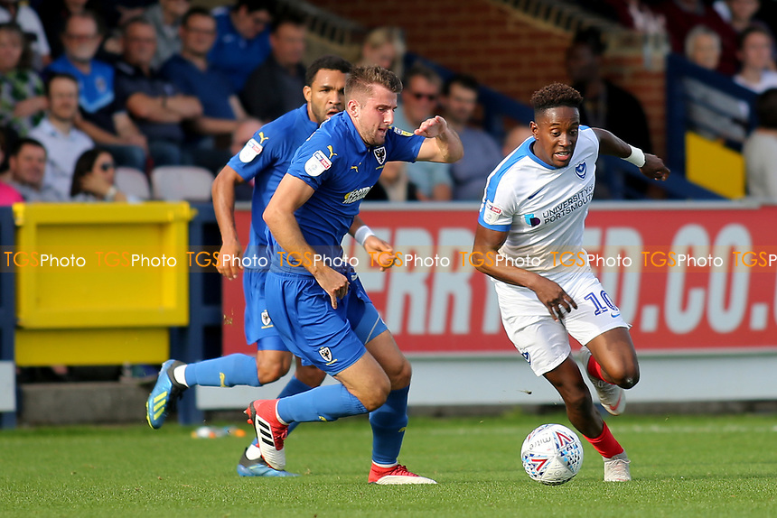 Jamal Lowe of Portsmouth in action during AFC Wimbledon vs Portsmouth, Sky Bet EFL League 1 Football at the Cherry Red Records Stadium on 13th October 2018