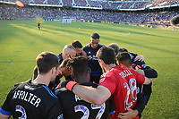 Stanford, CA - Saturday June 30, 2018: San Jose Earthquakes  prior to a Major League Soccer (MLS) match between the San Jose Earthquakes and the LA Galaxy at Stanford Stadium.