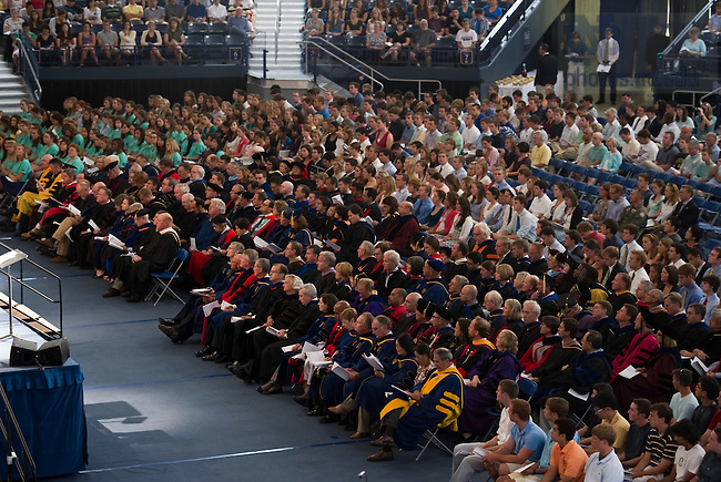 Faculty sit in their academic robes for the 2010 Opening Mass in the Purcell Pavilion...Photo by Matt Cashore/University of Notre Dame