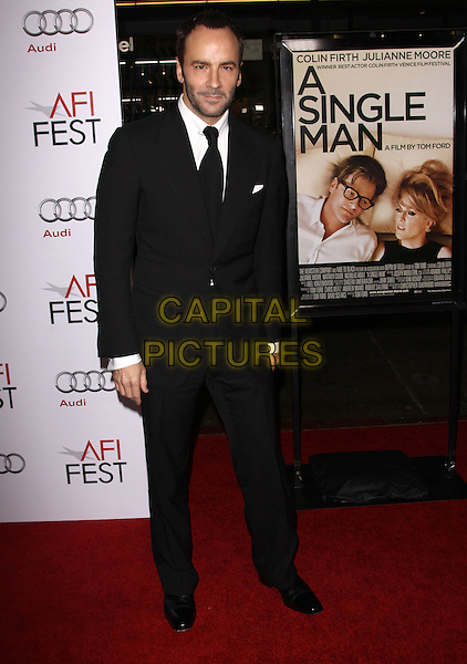 """TOM FORD .AFI FEST 2009 Screening Of """"A Single Man"""" Closing Night Gala held At The Grauman's Chinese Theatre, Hollywood, California, USA..November 5th, 2009.full length black suit.CAP/ADM/KB.©Kevan Brooks/AdMedia/Capital Pictures."""