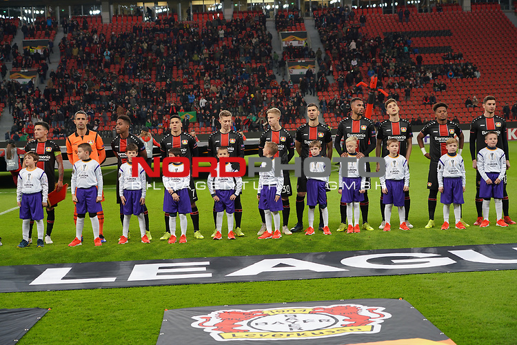 29.11.2018, BayArena, Leverkusen, Europaleque, Vorrunde, GER, UEFA EL, Bayer 04 Leverkusen (GER) vs. Ludogorez Rasgrad (BUL),<br />  <br /> DFL regulations prohibit any use of photographs as image sequences and/or quasi-video<br /> <br /> im Bild / picture shows: <br /> siw Leverkusener Mannschaft<br /> <br /> Foto © nordphoto / Meuter<br /> <br /> <br /> <br /> Foto © nordphoto / Meuter