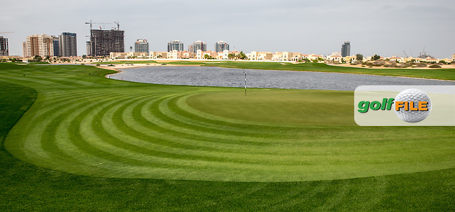 7th green at The Els Club , Dubai, United Arab Emirates.  28/01/2016. Picture: Golffile | David Lloyd<br /> <br /> All photos usage must carry mandatory copyright credit (&copy; Golffile | David Lloyd)