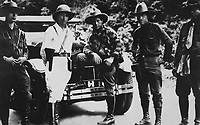 Gen. Sandino (center) and Staff enroute to Mexico.  June 1929.  Siglo XX.  (Marine Corps)<br /> EXACT DATE SHOT UNKNOWN<br /> NARA FILE #:  127-EX-1-6<br /> WAR & CONFLICT BOOK #:  371