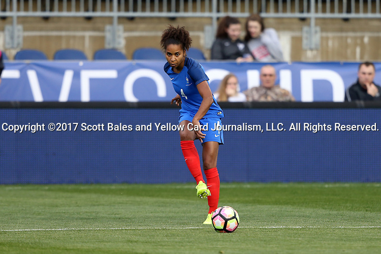 CHESTER, PA - MARCH 01: Laura Georges (FRA). The England Women's National Team played the France Women's National Team as part of the She Believes Cup on March, 1, 2017, at Talen Engery Stadium in Chester, PA. The France won the game 2-1.