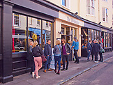 ENGLAND, Brighton, Crowd Outside the Mesmerist