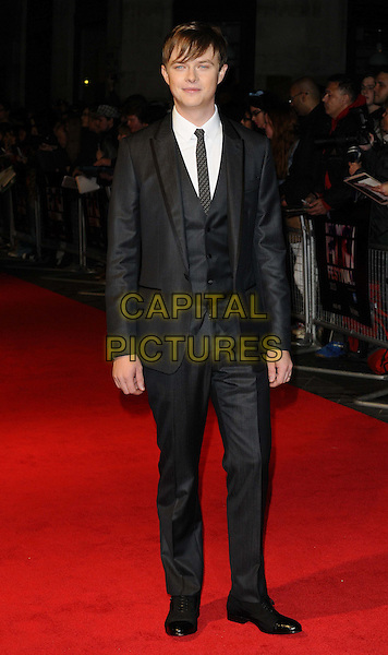 Dane DeHaan<br /> attended the &quot;Kill Your Darlings&quot; official competition gala screening, 57th BFI London Film Festival day 9, Odeon West End cinema, Leicester Square, London, England, UK, 17th October 2013.<br /> full length grey gray suit tie waistcoat <br /> CAP/CAN<br /> &copy;Can Nguyen/Capital Pictures