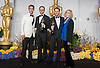 Laurent Witz and Alexandre Espigares pose with their Oscar and Matthew McConaughey and Kim Novak<br /> 86TH OSCARS<br /> The Annual Academy Awards at the Dolby Theatre, Hollywood, Los Angeles<br /> Mandatory Photo Credit: &copy;Dias/Newspix International<br /> <br /> **ALL FEES PAYABLE TO: &quot;NEWSPIX INTERNATIONAL&quot;**<br /> <br /> PHOTO CREDIT MANDATORY!!: NEWSPIX INTERNATIONAL(Failure to credit will incur a surcharge of 100% of reproduction fees)<br /> <br /> IMMEDIATE CONFIRMATION OF USAGE REQUIRED:<br /> Newspix International, 31 Chinnery Hill, Bishop's Stortford, ENGLAND CM23 3PS<br /> Tel:+441279 324672  ; Fax: +441279656877<br /> Mobile:  0777568 1153<br /> e-mail: info@newspixinternational.co.uk