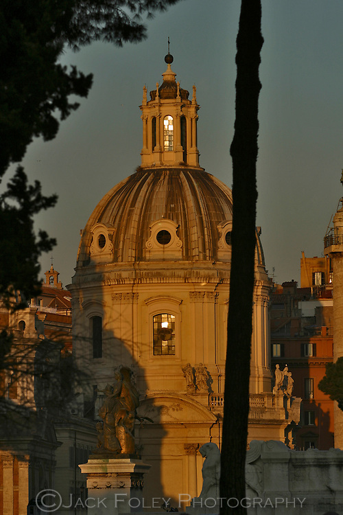 Church Maria al Foro Traiano at sunset, Rome, Italy