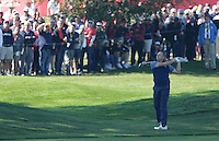 Sergio Garcia (Team Europe) on the 1st fairway during the Friday afternoon Fourball at the Ryder Cup, Hazeltine national Golf Club, Chaska, Minnesota, USA.  30/09/2016<br /> Picture: Golffile | Fran Caffrey<br /> <br /> <br /> All photo usage must carry mandatory copyright credit (&copy; Golffile | Fran Caffrey)
