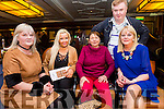 Enjoying the Ballymac GAA Strictly Come Dancing at Ballygarry Hotel on Saturday were Tess Breen, Sandra Breen, Lucy Breen, Margaret McIntyre and Dan Horn