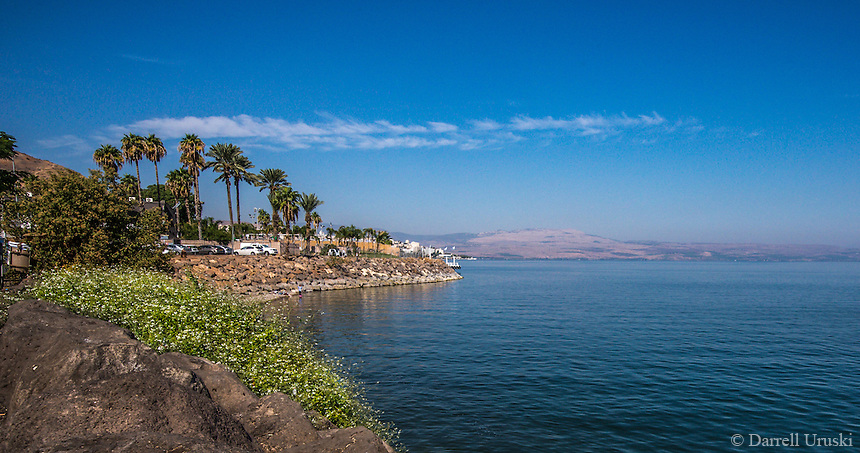 Fine Art Landscape Photograph of the sea of Galilee in Haifa, Israel.