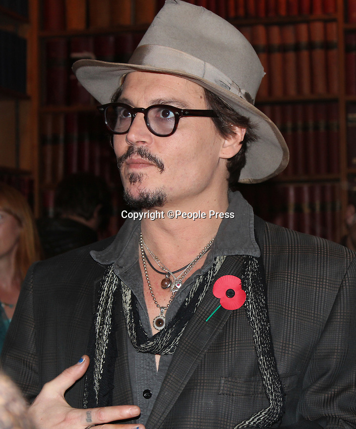 Oxford - Johnny Depp arrives to address the Oxford Union, Oxford - November 5th 2011..Photo supplied by Oxford Union