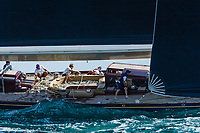 129 feet and built in 1933, J-class yacht Velsheda racing in the J class World championships off  Newport, RI 2017