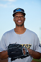Trenton Thunder pitcher Dillon Tate (24) poses for a photo before a game against the Richmond Flying Squirrels on May 11, 2018 at The Diamond in Richmond, Virginia.  Richmond defeated Trenton 6-1.  (Mike Janes/Four Seam Images)