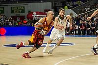 Real Madrid´s Sergio Rodriguez and Galatasaray´s Arroyo during 2014-15 Euroleague Basketball match between Real Madrid and Galatasaray at Palacio de los Deportes stadium in Madrid, Spain. January 08, 2015. (ALTERPHOTOS/Luis Fernandez) /NortePhoto /NortePhoto.com