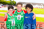 Scott Ryan, Jordan Kissane and Jeremy Dequadros from St Brendans Oakpark at the Community Games finals at An Riocht on Saturday