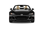 Car photography straight front view of a 2016 Mazda MX-5 Miata Grand Touring 2 Door Convertible Front View