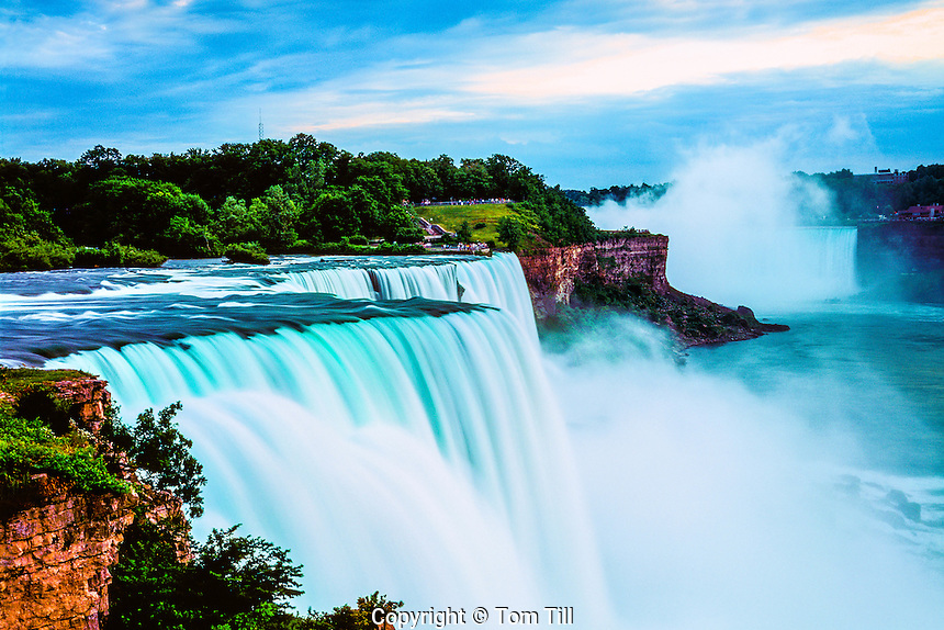 Niagara Falls at Sunset, Niagara Reservation State Park, New York