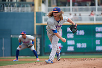 Midland RockHounds pitcher Grant Holmes (14) during a Texas League game against the Frisco RoughRiders on May 22, 2019 at Dr Pepper Ballpark in Frisco, Texas.  (Mike Augustin/Four Seam Images)