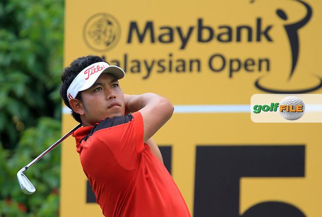 Chinnarat Phadungsil (THA) on the 15th on Day 1 of the Maybank Malaysian Open 2012 at Kuala Lumpur Golf and Country Club, Kuala Lumpur, Malaysia...(Photo Jenny Matthews/www.golffile.ie)