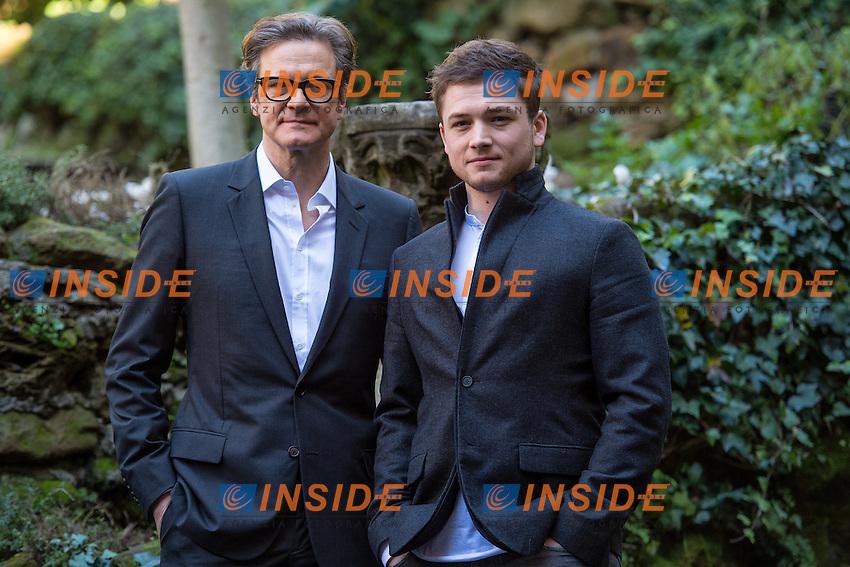 Colin Firth, Taron Egerton <br /> Roma 02-02-2015 Hotel De Russie <br /> Kingsman Photocall <br /> Foto Andrea Staccioli / Insidefoto