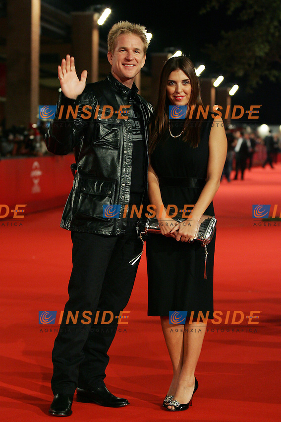 Actor Matthew Modine and Gisella Morengo during the red carpet at the opening day of the third edition of Festa Internazionaledel Cinema di Roma, Auditorium Parco della Musica, October 22, 2008. <br /> Matthew Modine e Gisella Morengo alla serata inaugurale della terza edizione della Festa Internazionale del Cinema di Roma.<br /> Roma 22/10/2008 Auditorium Parco della Musica. <br /> Photo Antonietta Baldassarre Inside