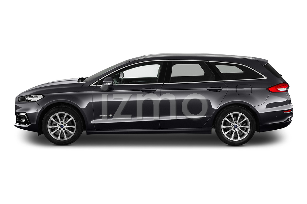 Car driver side profile view of a 2019 Ford Mondeo Clipper Hybrid 5 Door Wagon