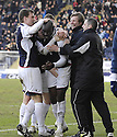 20/02/2010  Copyright  Pic : James Stewart.sct_jspa15_falkirk_v_aberdeen  .::  FOURTH OFFICIAL NEIL WATTERS TRIES TO STOP FALKIRK MANAGER STEVEN PRESSLEY JOINING IN WITH ENOCH SHOWUNMI AFTER HE SCORES THE THIRD ::.James Stewart Photography 19 Carronlea Drive, Falkirk. FK2 8DN      Vat Reg No. 607 6932 25.Telephone      : +44 (0)1324 570291 .Mobile              : +44 (0)7721 416997.E-mail  :  jim@jspa.co.uk.If you require further information then contact Jim Stewart on any of the numbers above.........